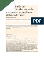 GESTION Competitividad depende más de unirse a cadenas globales de valor - Richard Baldwin