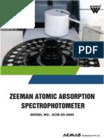Zeeman Atomic Absorption Spectrophotometer