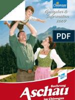 Gastgeberverzeichnis Aschau 2009