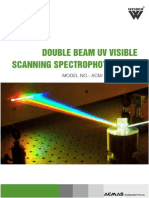 Double Beam UV Visible Scanning Spectrophotometer