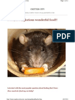 Rats and a Healthy Diet