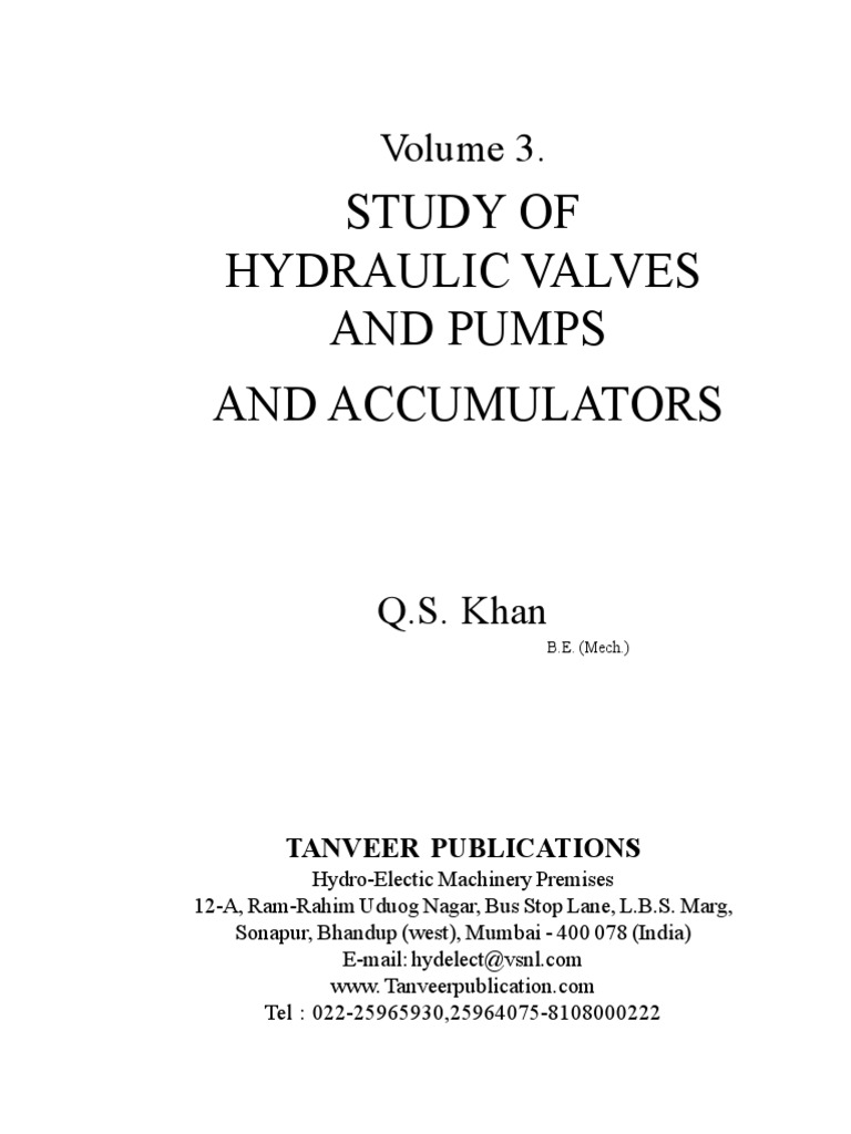 Volume 3 study of hydraulic valves pumps and accumulators study of hydraulic valves pumps and accumulators pump valve biocorpaavc Gallery