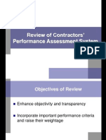 Contractor Performance Assessment