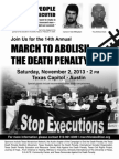 B&W Flyer for 14th Annual March to Abolish the Death Penalty