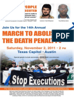 Color Poster for the 14th Annual March to Abolish the Death Penalty