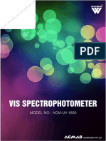 VIS Spectrophotometer Uv- 1800