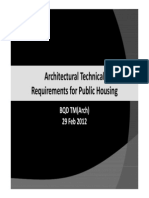 Architectural Technical Requirements for Public Housing