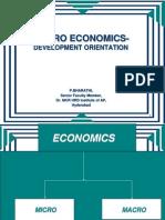 Macro Economics- Development Orientation