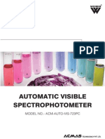 Automatic Visible Spectrophotometer