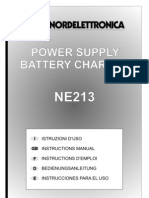 MAN-NE213_R0 Nordelettronica NE 213 Battery Charger Power Supply Schaltplan Wiring Diagram Sterckeman Starlett 370 CE