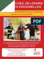 Programme Vacances Toussaint2013