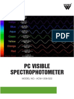 PC Visible Spectrophotometer