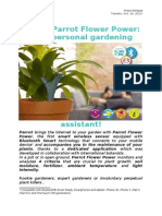 Press Release Parrot Flower Power (CA)