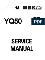 Yamaha Aerox (1997) Service Manual