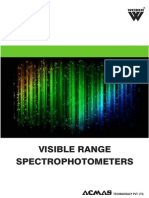 Visible Range Spectrophotometers Category