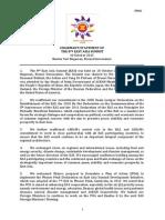 8th Chairman's Statement of the 8th East Asia Summit, 10 October 2013, Bandar Seri Begawan, Brunei Darussalam
