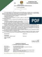 Hotărîrea Guvernului Republicii Moldova cu privire la crearea Comitetului Naţional de Stabilitate Financiară