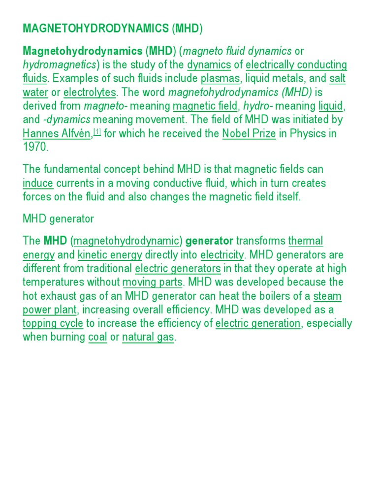 Magneto Hydrodynamics | Magnetohydrodynamics (10 views)