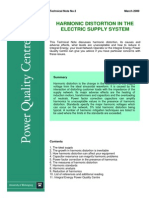 Harmonic Distortion in the Electric Supply System