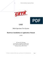 Manual Tribometru