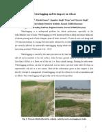 Waterlogging and its impact on wheat/Ashwani Kumar, Rajesh Kumar, Jogendra Singh, Pooja and Vijayata Singh