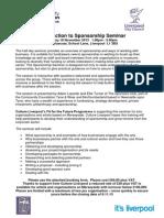 Liverpool Introduction to Sponsorship 18 Nov 2013 - Revised
