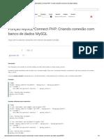 Função MySQL Connect PHP_ Criando conexão com banco de dados MySQL