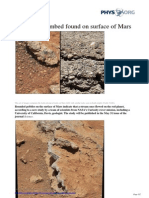 2013 05 Ancient Streambed Surface Mars