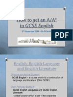 How to Get an a in English-Parents Version