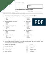 [Www.banksoal.web.Id] Soal SD Kelas 1 Ulangan Harian 2 Semester II - Bahasa Indonesia