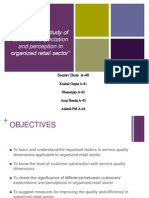 An empirical study of customer expectation and perception in organized retail sector