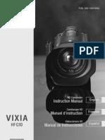 Canon HF G10 manual