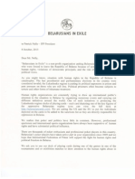 Letter to Poker federation