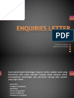 Enquiry Letter - Practice Exercise