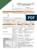 Solicitud de Certificado de Habilitacion Profesional