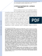 Sociologie Du Cinema Et Sociologie Des _ - Leveratto, Jean-Marc Et Al