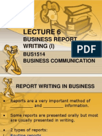 Lecture 6 Report Writing (Ss)