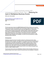 Reducing the load on WebSphere Business Events