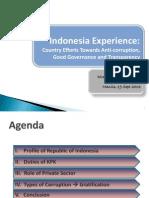 KPK Presentation 3rd Integrity Summit MANILA
