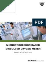 Microprocessor Based Dissolved Oxygen Meter
