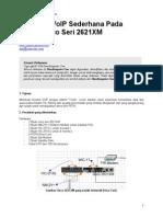 Membuat Voip Sederhana Pada Mesin Cisco Seri 2621xm