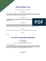Ley Contra la Delincuencia Organizada Decreto 21-2006