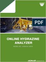 Online Hydrazine Analyze