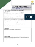 ASHA UK Application Form