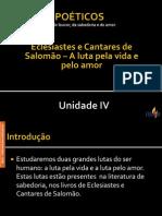 Livros Poéticos  - Unidade IV 1.ppsx