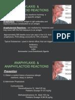Emergency - Anaphylaxis