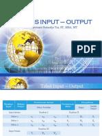 Analisis Input - Output