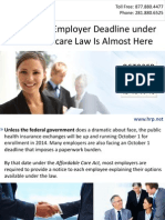 Important Employer Deadline under the Healthcare Law Is Almost Here