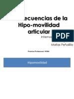 Consecuencias de La Hipo-Movilidad Articular