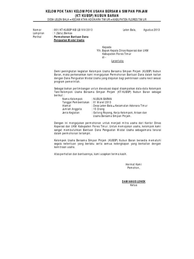 Contoh Proposal Dana Ilmusosial Id